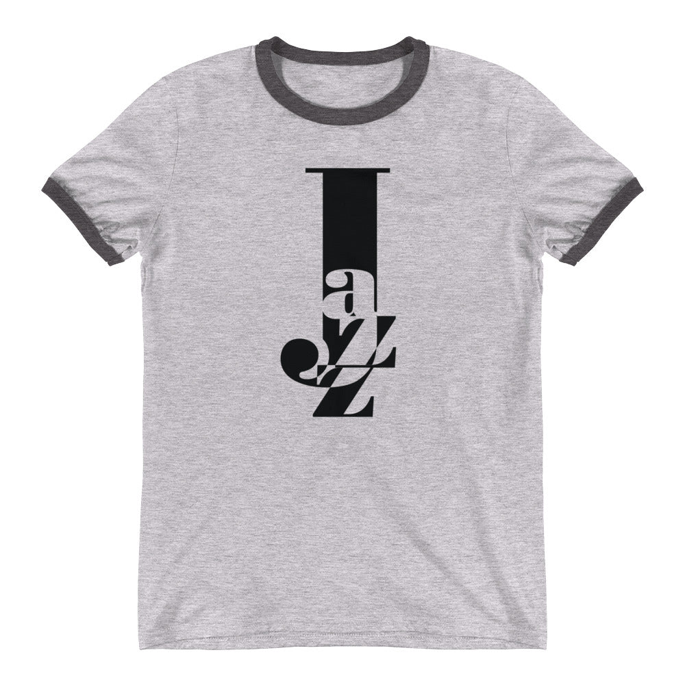 Music is Life—Jazz Ringer T-Shirt (Solid black print)