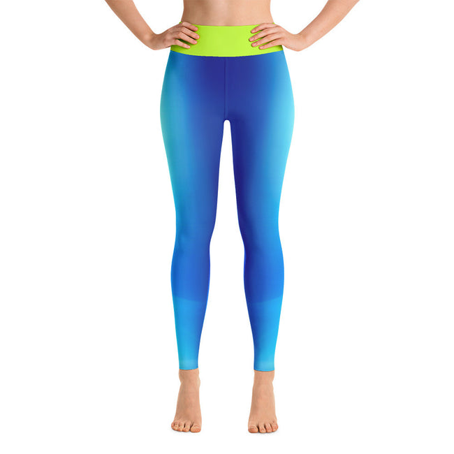 Blue Cosmopolitan Yoga Leggings