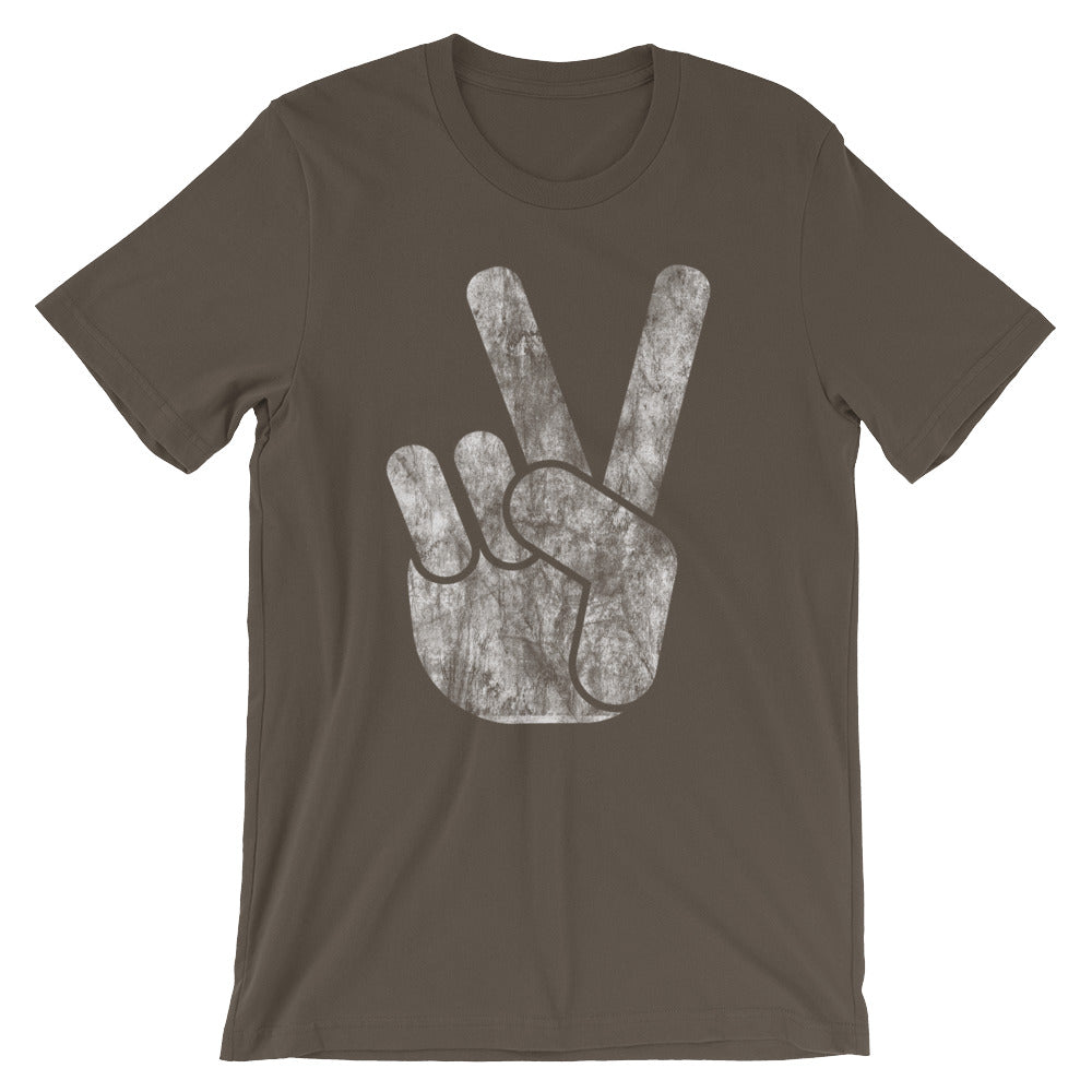 Pretty Cool Distressed Peace Sign Unisex Short Sleeve T-Shirt