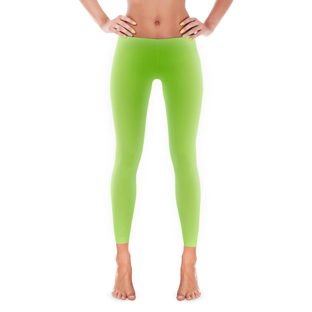 Appletini Leggings - Lime, Lemon Green Leggings | Miggle Miggle