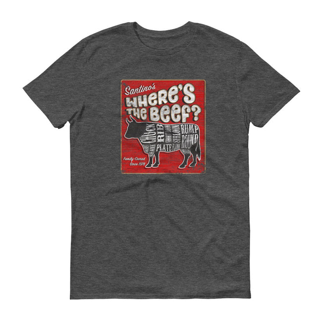Where's the Beef vintage distressed wooden sign for butcher shop T-Shirt