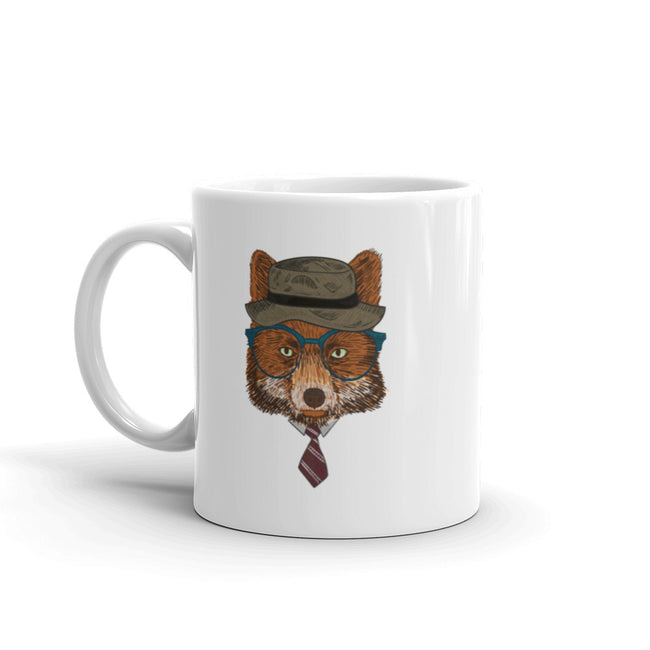 Adorable Hipster Bear Mug made in the USA