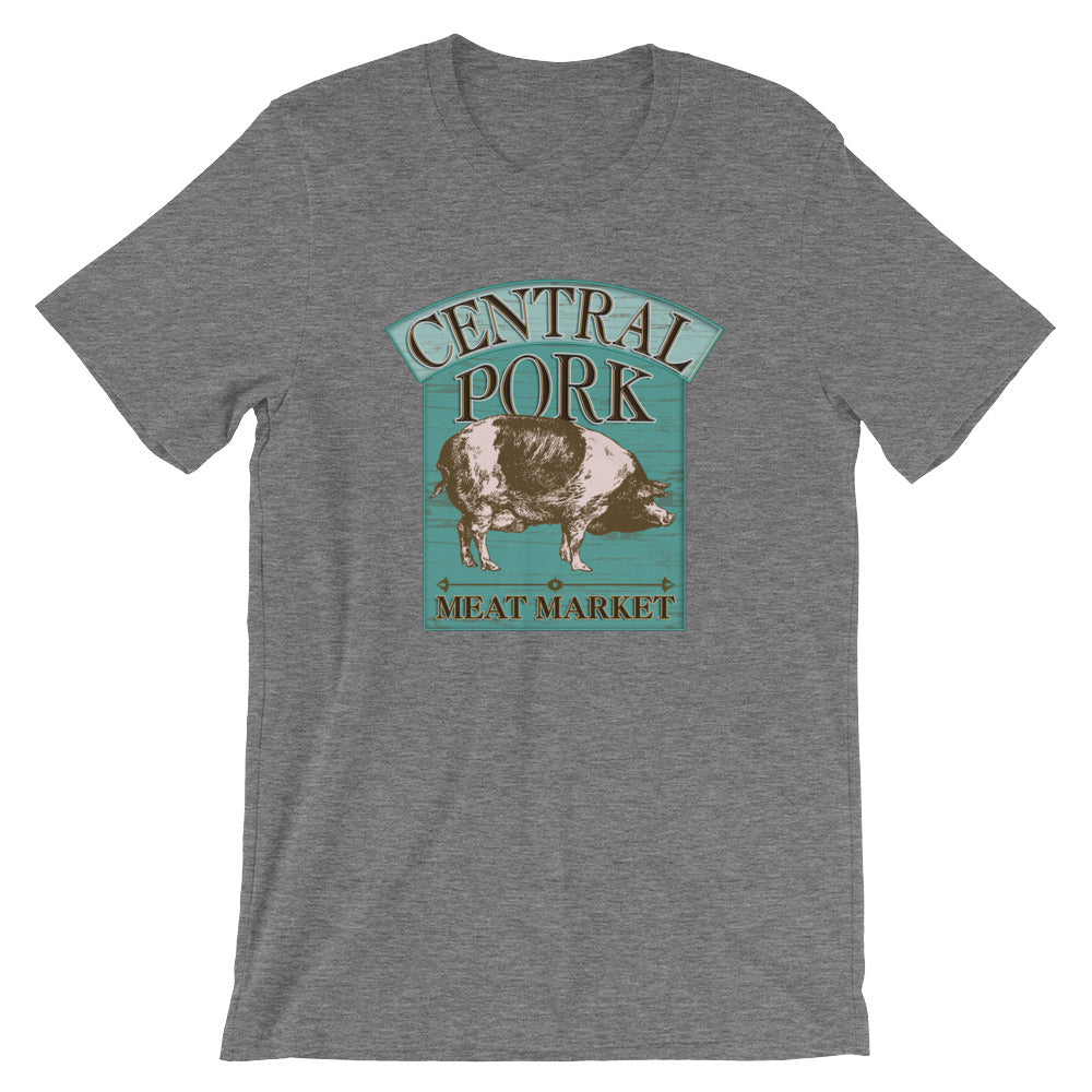 Central Pork Meat Market Funny Unisex T-Shirt for Chefs and Cooks