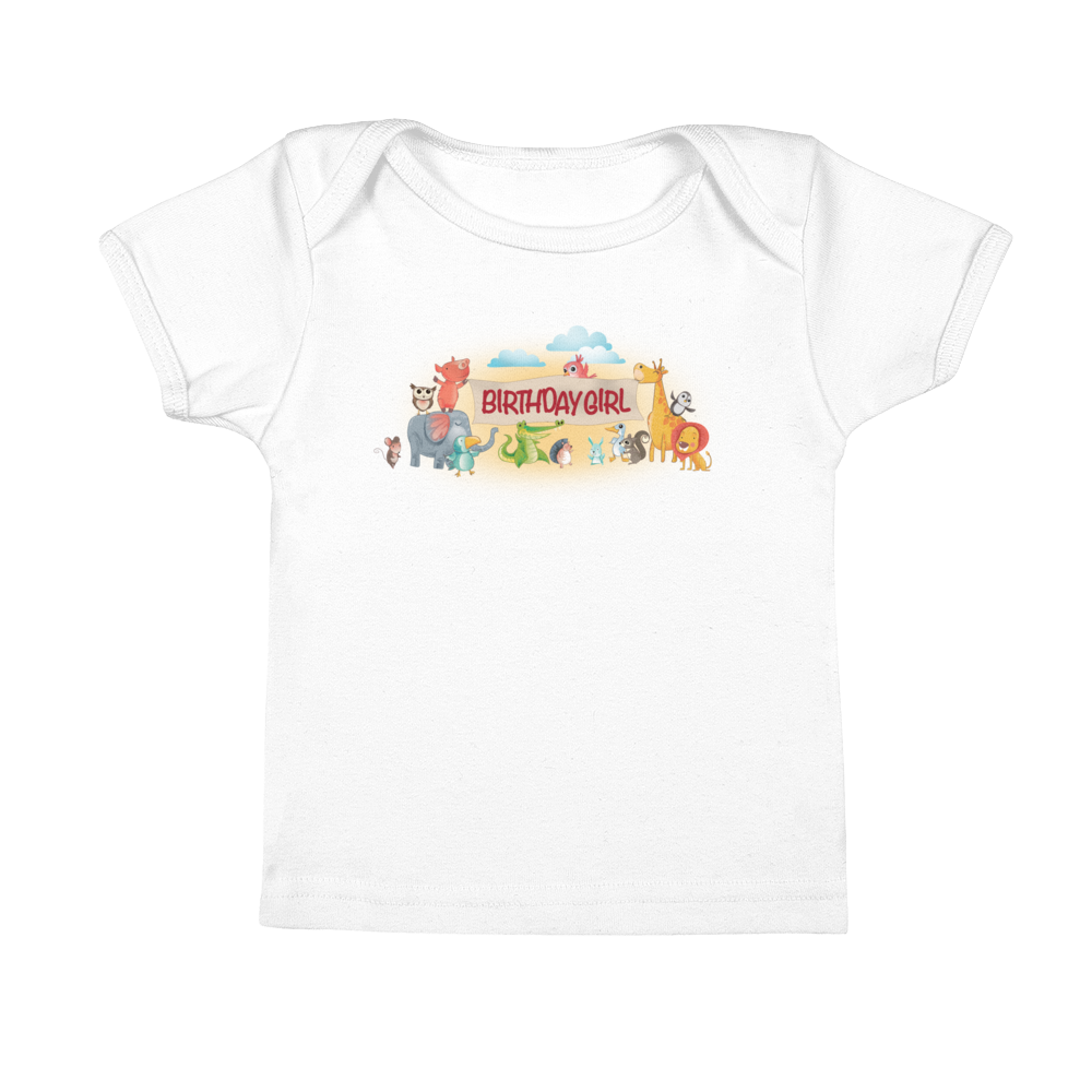 Birthday Girl Infant Tee with Neckband | T-shirt for Baby Girls | Miggle Miggle