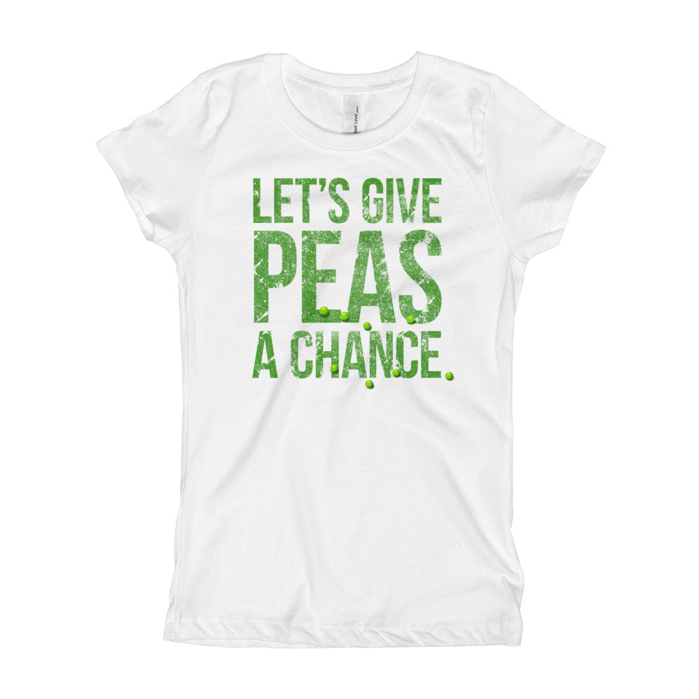 Girl's T-Shirt Let's Give Peace a Chance