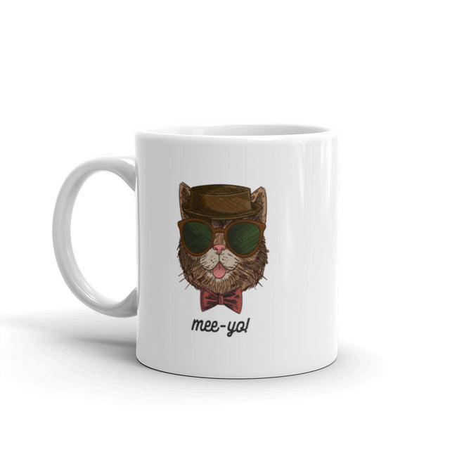 Mee-Yo Cool Hipster Cat Mug made in the USA