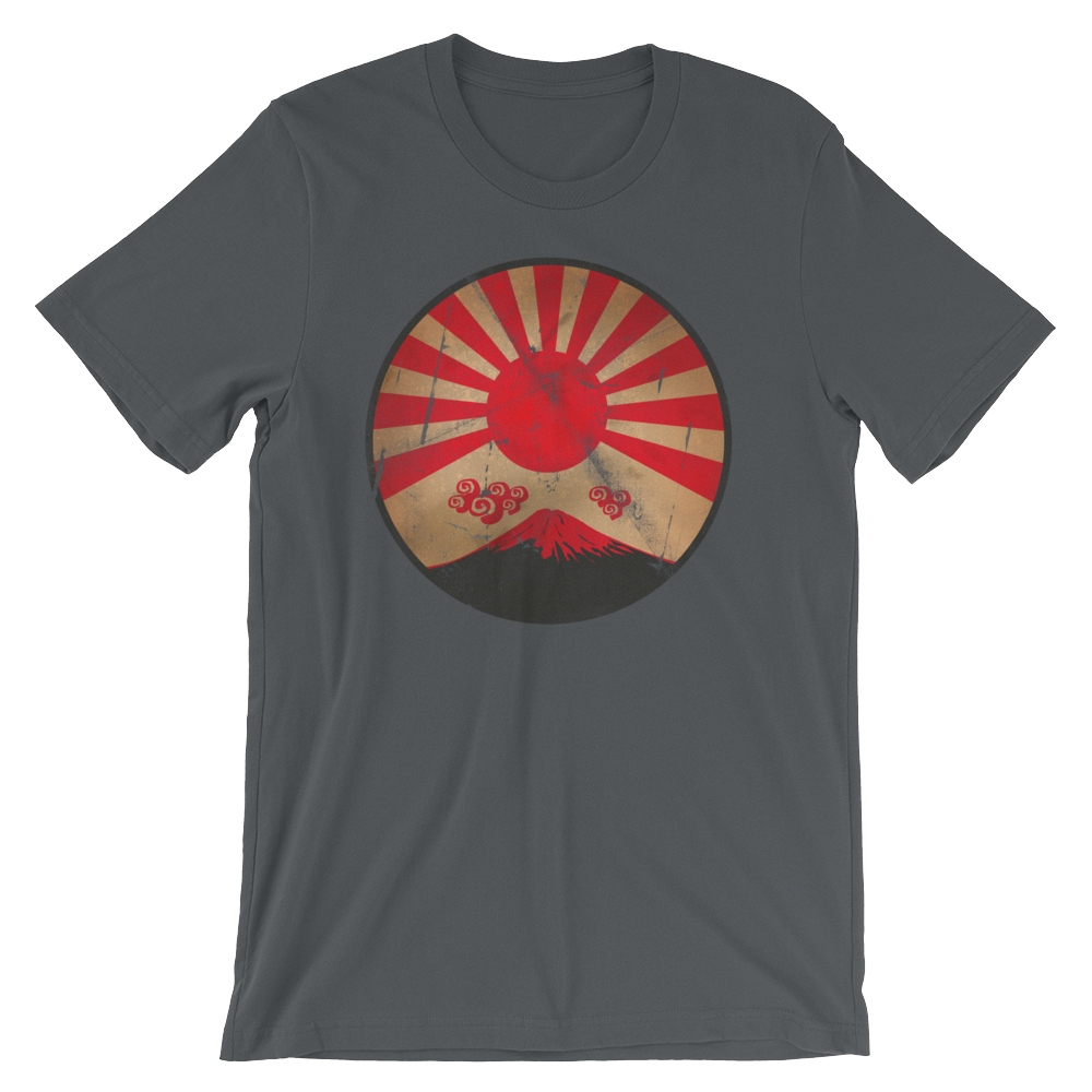 Japanese Nuclear Sunset Mt. Fuji Unisex Short Sleeve T-Shirt