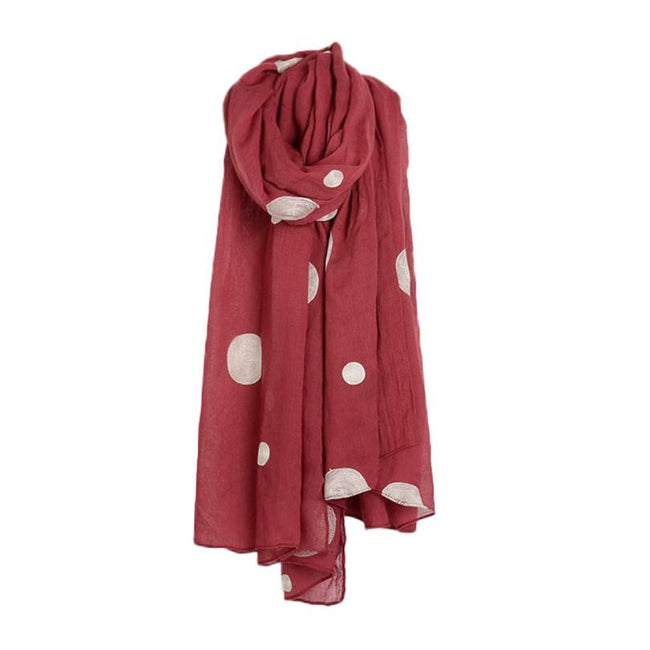 Adorable Ladies' Dotted Wool Scarf