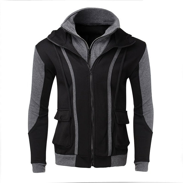 Autumn Casual Full Zip Up Slim-fit Jacket Hoodie for Men up to 3XL