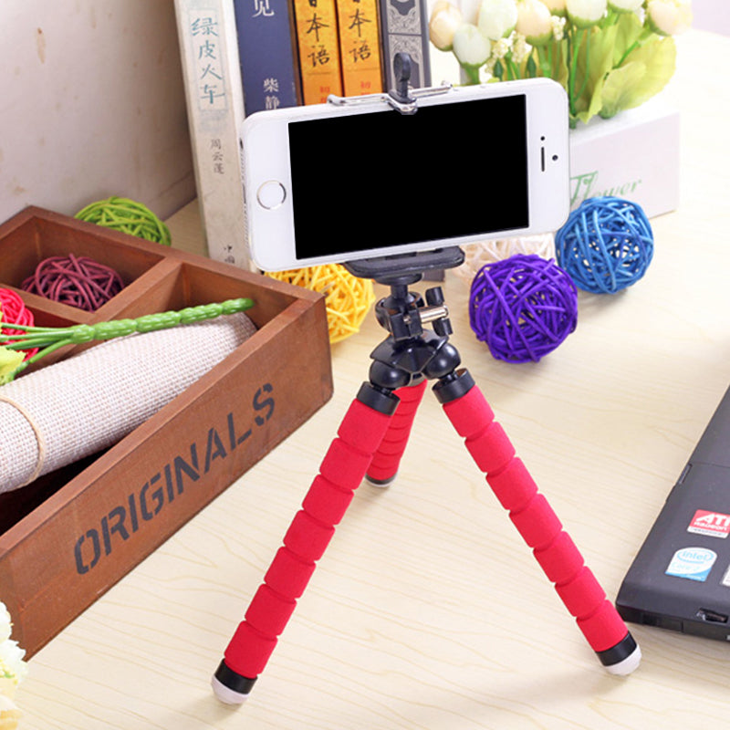 Mini Flexible Phone Holder Leg Octopus Tripod for Mobile SmartPhone
