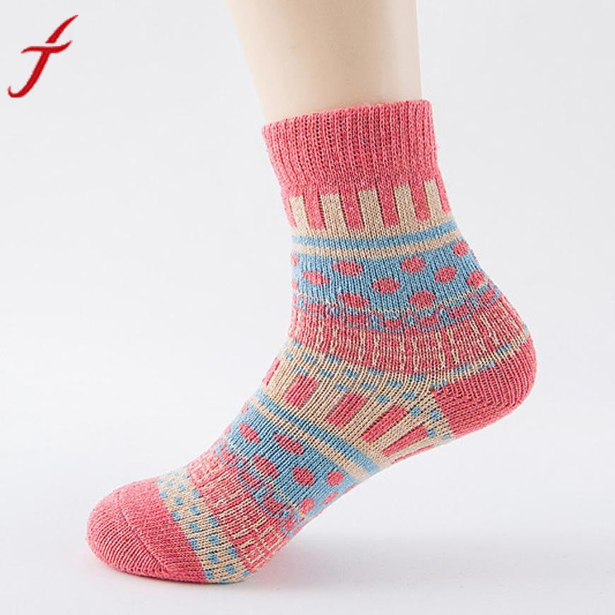 Cute Thick Warm Cashmere Ladies Socks