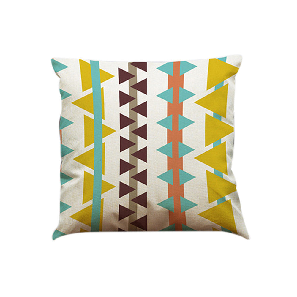 Geometric Lines Cotton Linen Throw Pillow Case Cushion Cover Home Décor