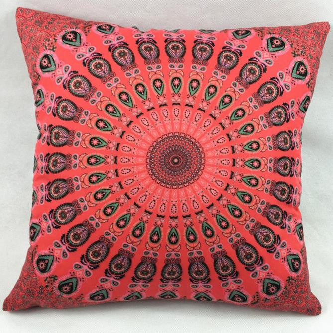 Mandala Inspired Pillow Case Sofa Throw Cushion Two-Side Cover Home Decor
