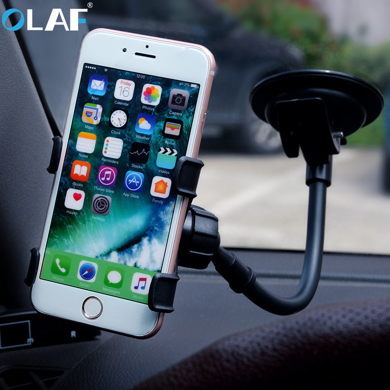 OLAF Universal Suction Cup Sucker Car Windshield Mount Phone Holder Stand