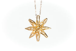 Voronoi Star Rose Gold plated
