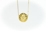 Precious Moon Necklace Pendant Gold Plating or Rhodium Plating on Silver