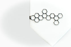 Honeycomb Tie Bar Rhodium Plated on Silver