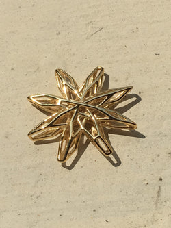 Voronoi Star Yellow Gold plated