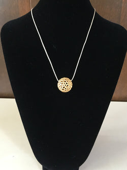 Moon Pendant Gold Colored Steel - Artisan