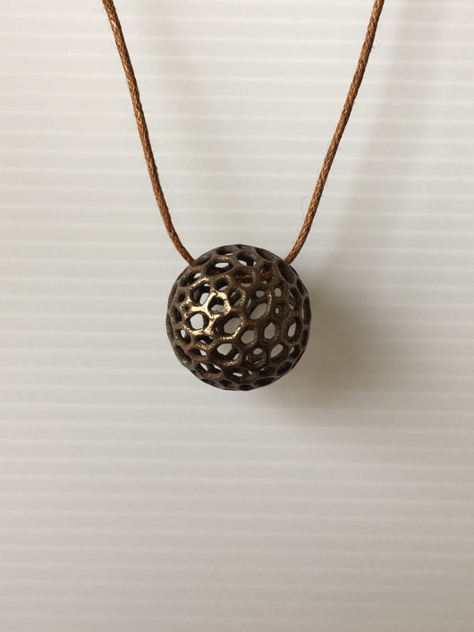 Moon Pendant Bronze Colored Steel - Artisan