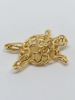 Charlie, the Terrapin Yellow Gold Plated
