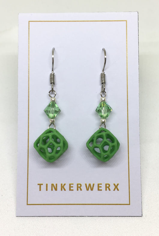 Mini Coral Rock Earrings - Green