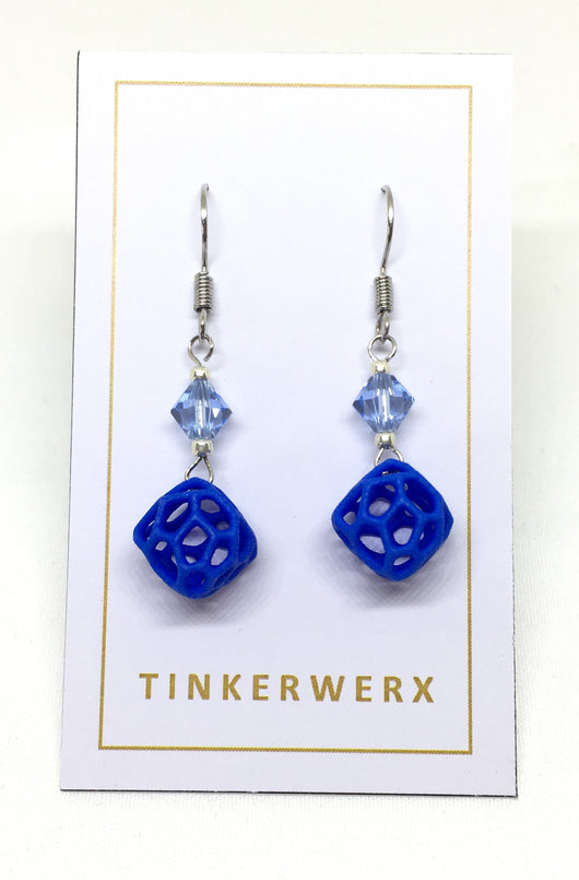 Mini Coral Rock Earrings - Blue