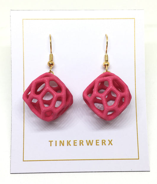 Coral Rock Earrings - Pink