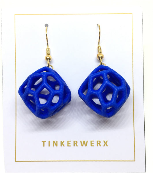 Coral Rock Earrings - Blue