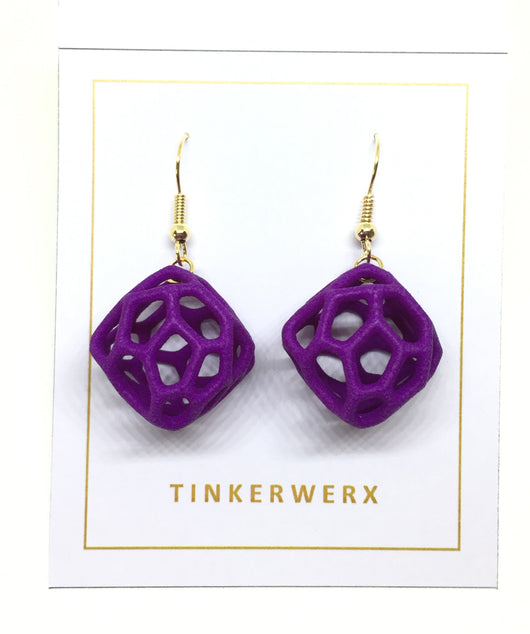 Coral Rock Earrings - Purple