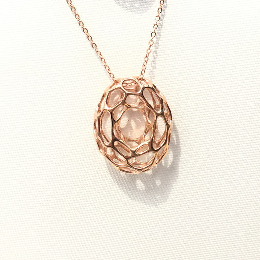 Cyclone Necklace Pendant Gold Plating or Rhodium Plating