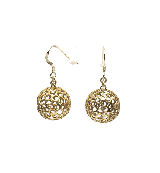 Moon Feast Earrings Yellow Gold plated on Silver - Bali Edition