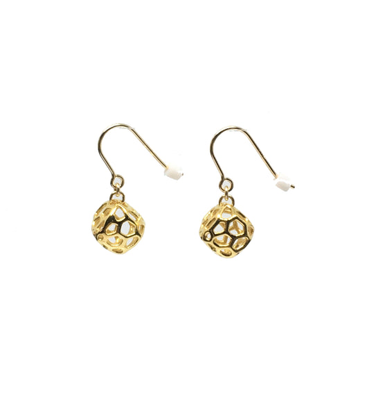 Mini Coral Rock Earrings Yellow Gold plated