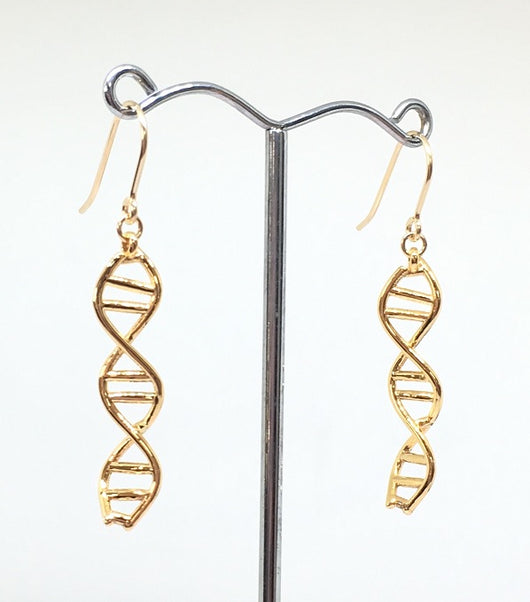 BioChem DNA Earrings - Gold or Rhodium Plated *NEW*
