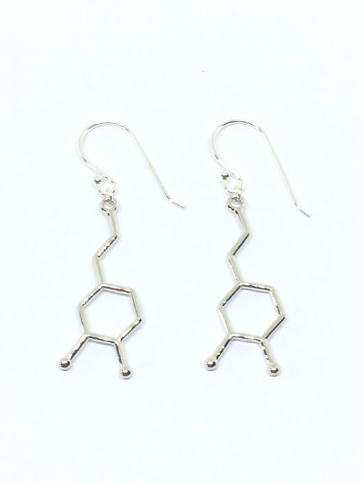 BioChem Dopamine Earrings - Gold or Rhodium-plated
