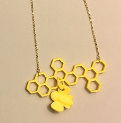 Honeycomb Necklace Pendant