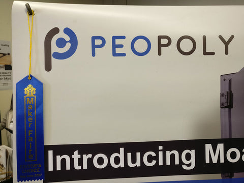 Maker Faire Bay Area Peopoly Moai award