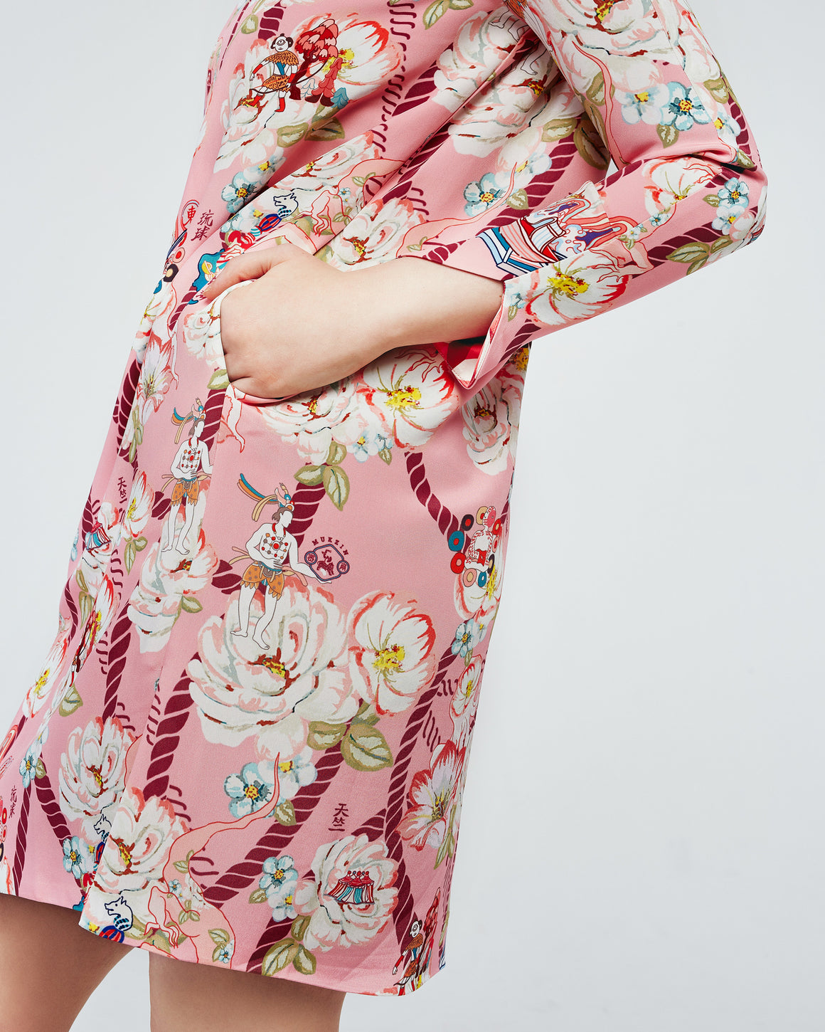 Cheongsam Dress with Printed Patterns product image