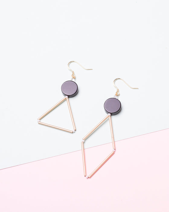 Asymmetric Black Onyx Earrings