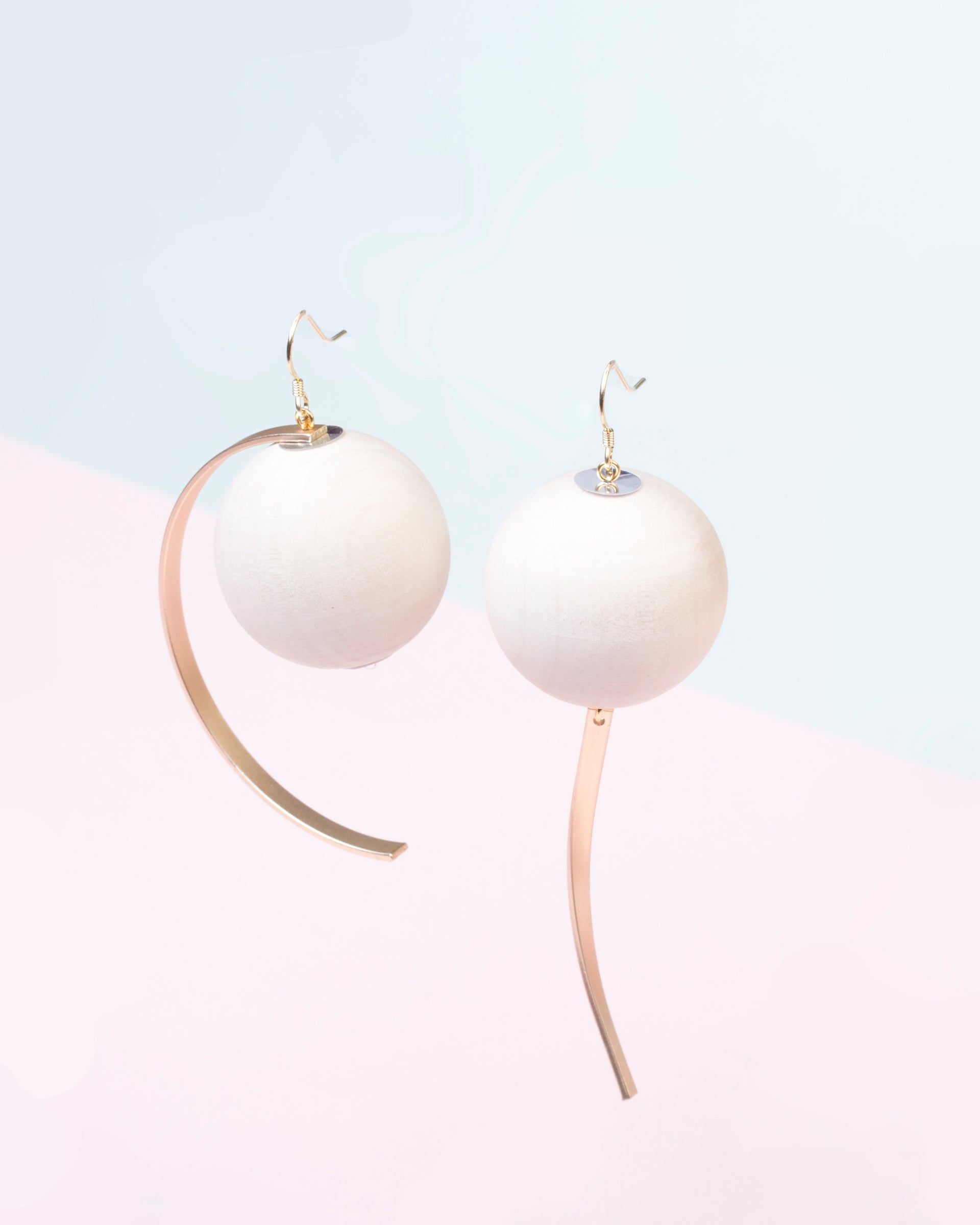 of big geometric products pearl asymmetric earrings on copy customized image circle dangle clip earring