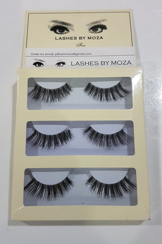 Eye Lashes By Moza Medium ( 3 Pcs )