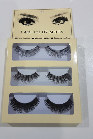 Eye Lashes By Moza Kombinasi ( Light,Premium,Medium )