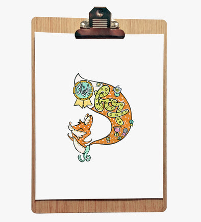 Clever Fox - 8 x 10 Print