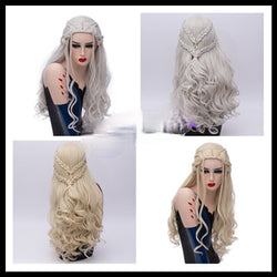 Wig Shape Long Curly Hair High Temperature Silk Cosplay Party Wigs for Women Girls