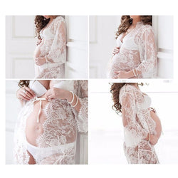 Perspective Eyelash Lace Pregnant Woman Portrait Skirt Pregnant Woman Wearing Cardigan Dress