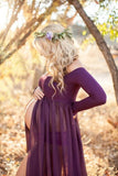 Pregnant Women Photography Dresses Pregnant Women Shooting Chiffon Sweep Train Long Skirt