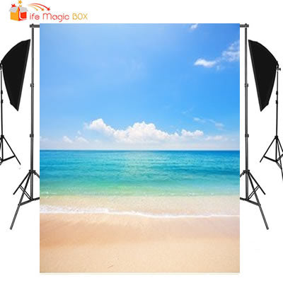 LIFE MAGIC BOX Wedding Photocall Beach Sea Sand Photography Backgrounds Holiday Backdrops Wallpapers