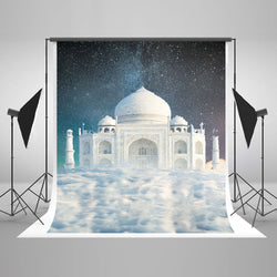 LIFE MAGIC BOX Seamless Wrinkle-free Polyester Washable Photo Background  Cloth Backdrops Castle Sky