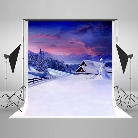LIFE MAGIC BOX Seamless Wrinkle-free Polyester Washable Newborn Photography Backdrops Snow Backdrop