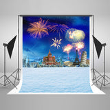 LIFE MAGIC BOX Seamless Wrinkle-free Polyester Washable Photo Background Newborn Photography Cloth Backdrops Fireworks Castle